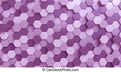 Purple hexagons background - Purple hexagons loopable motion...