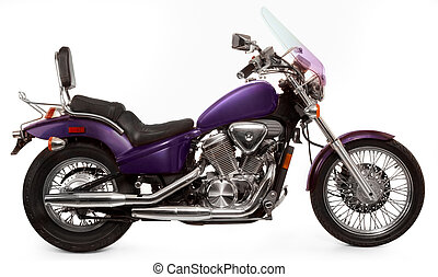 motorcycle - Purple Honda 600 VLX motorcycle shot on white...