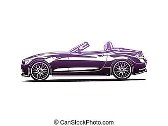 Purple hot sport car