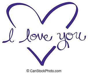 Purple I Love You Heart