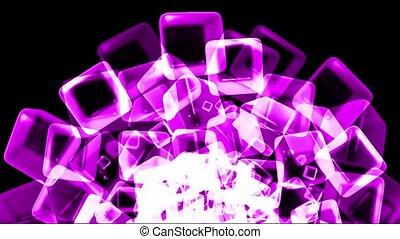 purple ice block,crystal jewelry