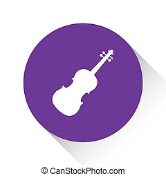 Purple Icon Isolated on a White Background - Violin