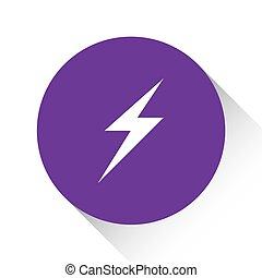 Purple Icon Isolated on a White Background - Lightning Bolt...