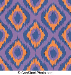 purple ikat stripes. seamless background orange. violet. blue vector