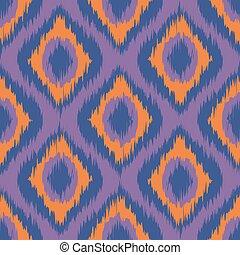purple ikat stripes. seamless background orange. violet. blue vector