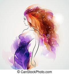 purple image girl