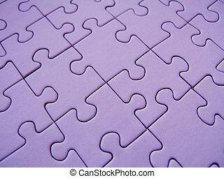 Purple jigsaw - Purple gigsaw texture