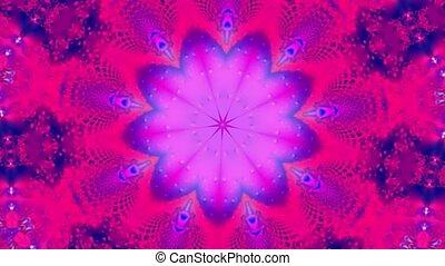 Purple kaleidoscope motion background