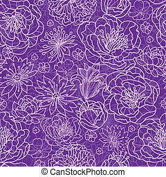 Purple lace flowers seamless pattern background - Vector ...