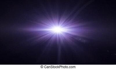 purple lens flare