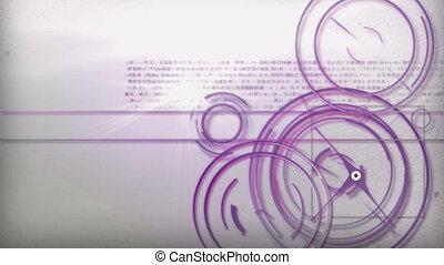 purple light line technology - Motion graphic line of...