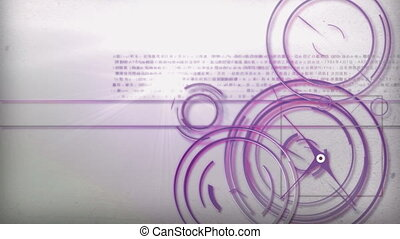 purple light line technology - Motion graphic line of...