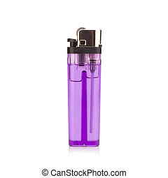purple lighter on white background