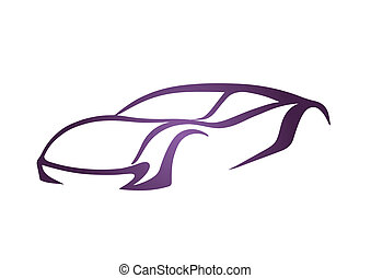 Purple logo of auto