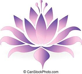 Purple lotus flower logo
