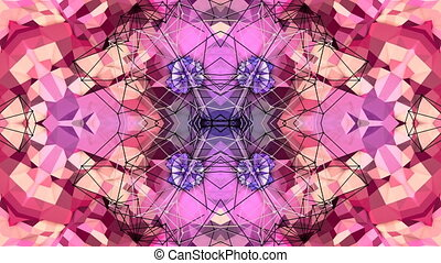 purple low poly geometric abstract background as a moving...