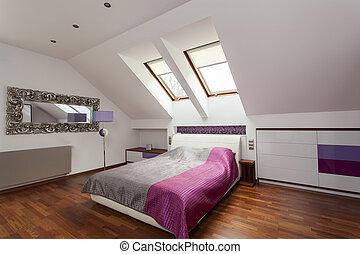 Purple luxurious bedroom