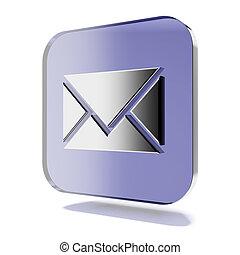 Purple mail icon