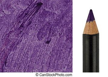 Purple Makeup pencil with sample stroke