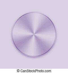 Purple metal button icon