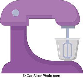 Purple mixer, illustration, vector on white background.