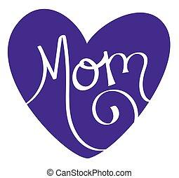 Purple Mom Heart