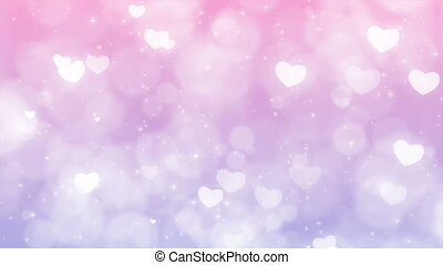 Purple Mothers Day Background with Particles, Sparkles and Hearts.