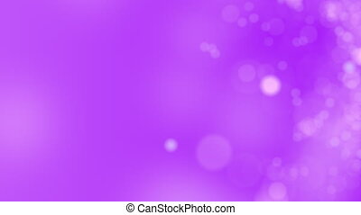 Purple motion background. Abstract glowing bokeh circles or sparks. 4K seamless loop animation