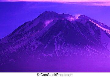 Purple Mountains Majesty - Mt. Shasta Califorina, Snowey ...