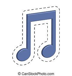 purple music note cut line vector illustraiton eps 10
