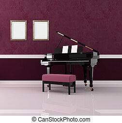 purple music room