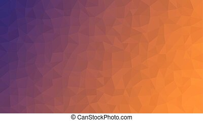 Purple Orange Low Poly Vector Background