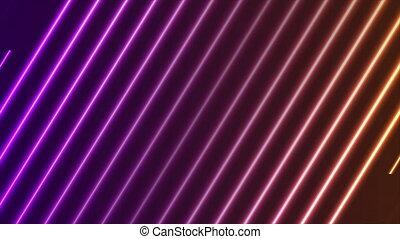 Purple orange neon laser lines video animation