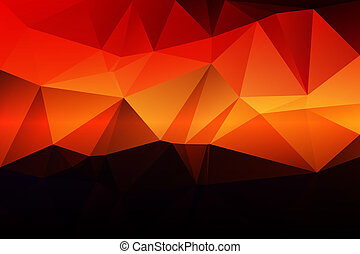 Purple orange yellow red brown low poly background