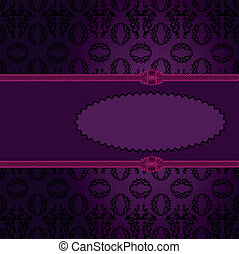 Purple oval frame