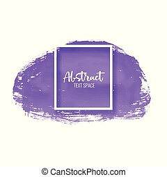 purple paint brush stroke vector background