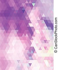 Purple pastel triangles pattern