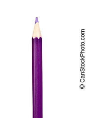 Purple pencil vertically