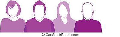 purple people silhouettes