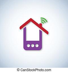 Purple phone house