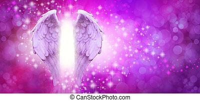 Purple Pink Sparkle Angel Wings Message Board
