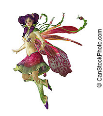 Purple Pixie CA - a graceful fairy with wings and a cute...
