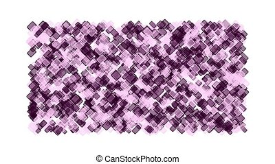 purple plastic square block mosaics