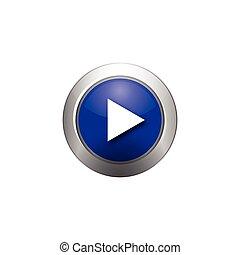 purple play button icon, symbol, logo designs, vector illustration