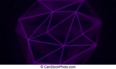 Purple polygonal solid. Loopable animation - Rotating...