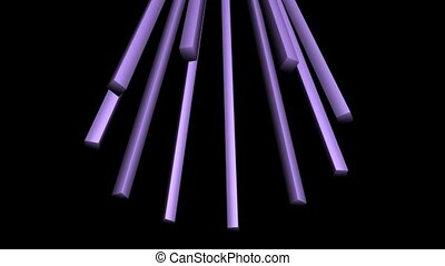Purple Pronged Structure