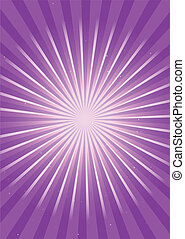 Purple radial flare