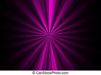 Purple rays on black background