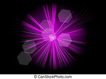purple rays on the black