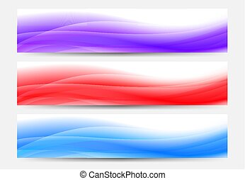 Purple, Red and Blue Web Banners Background